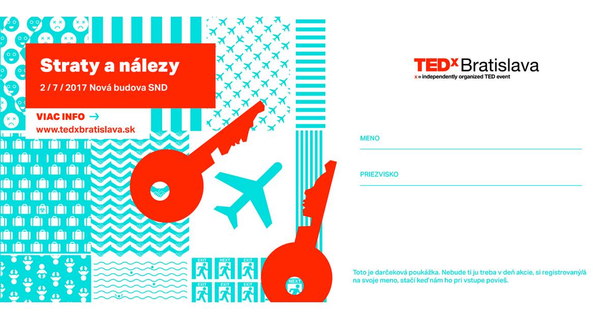 TEDxBratislava, voucher, darcekova poukazka